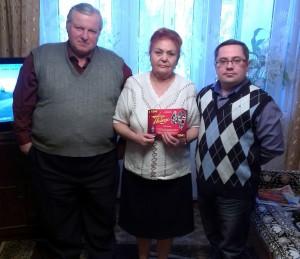 Михаил Сучков (UA3VLT), Нина Баннова (RK3VA) и Дмитрий Воронин (RA5DU)