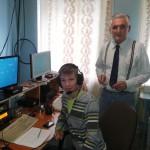 Участник первенства России — школьник Владимир Беликов и его тренер Валерий Бессарабенко (R6FB) на позиции RT7T компании RUSBEAM (TNX RM6F)