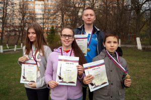 Слева направо: Елена Малышева, Надежда Тупоногова, Платон Журавлёв, Артём Мелькин.